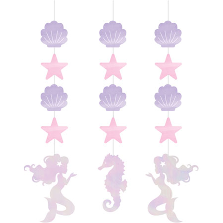 Mermaid Shine Hanging Cutouts