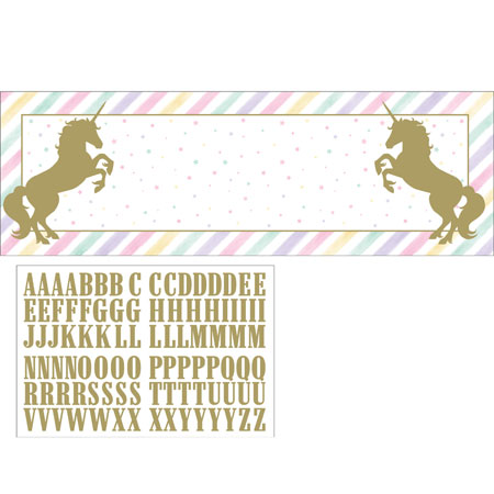 Unicorn Sparkle Giant Party Banner With Stickers