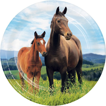 Horse And Pony Dessert Plates 8pk