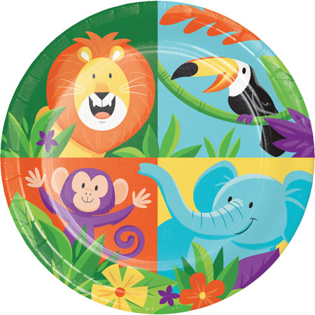 Jungle Safari Dessert Plates 8pk