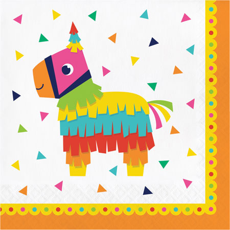 FIESTA Fun Pinata Lunch Napkins 16pk