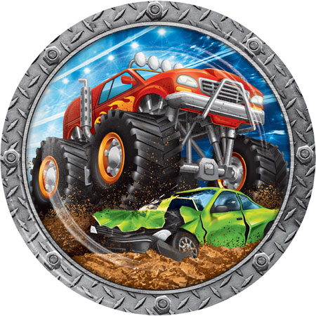 Monster Truck Rally Dinner Plates 8pk