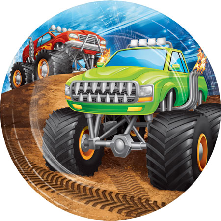 Monster Truck Rally Dessert Plates 8pk