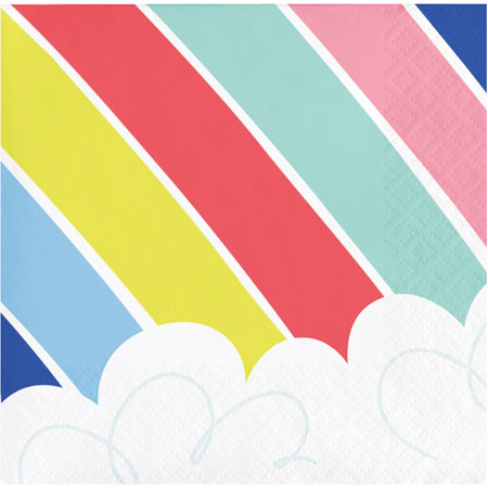 Over The Rainbow Beverage Napkins 16pk