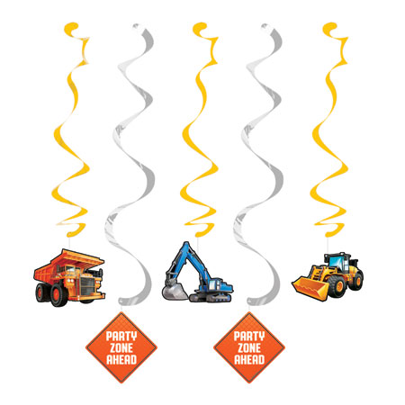 Big Dig Construction Dizzy Danglers 6pc