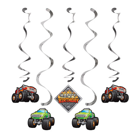 Monster Truck Rally Dizzy Danglers 5pc