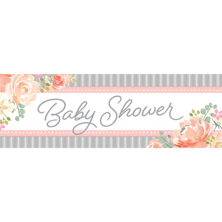 Farmhouse Floral Baby Shower Giant Party Banner
