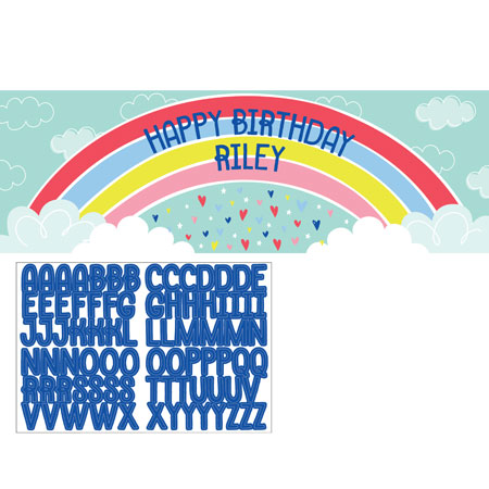 Over The Rainbow Giant Party Banner
