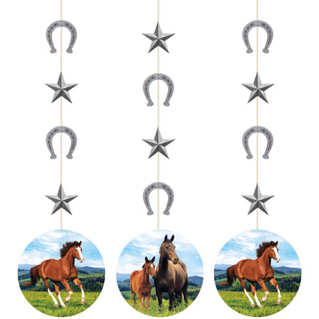 Horse And Pony Hanging Cutouts 3pc