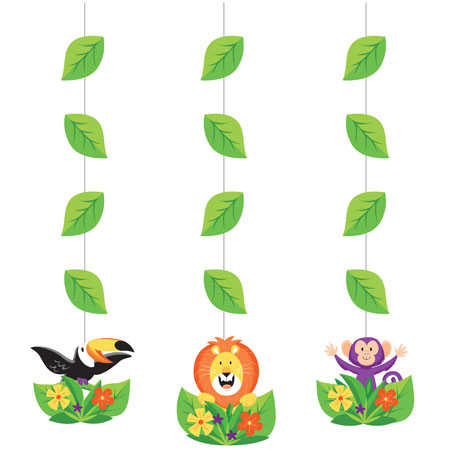 Jungle Safari Hanging Cutouts 3pc