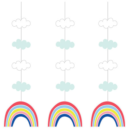 Over The Rainbow Hanging Cutouts 3pc