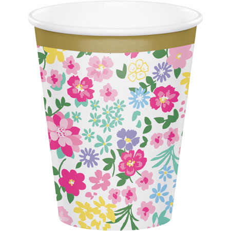 Floral Tea Party 9oz Cups 8pk