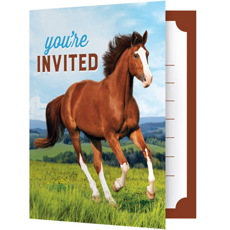 Horse And Pony Party Invitations 8pk