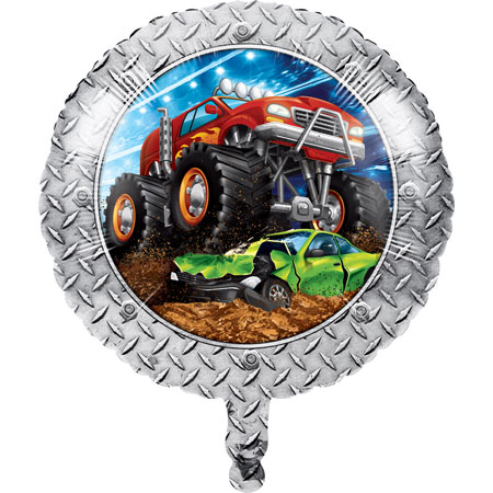 Monster Truck Rally 18in Foil Balloon
