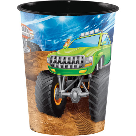 Monster Truck Rally 16oz Plastic Keepsake Cup