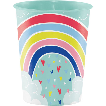 Over The Rainbow 16oz Plastic Keepsake Cup