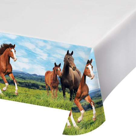 Horse And Pony Plastic Tablecover