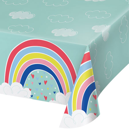 Over The Rainbow Plastic Tablecover