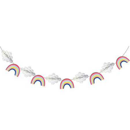 Over The Rainbow Shaped Banner