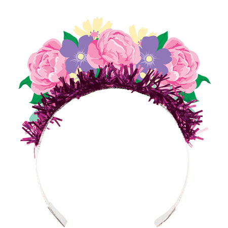 Floral Tea Party Tiara 8pk