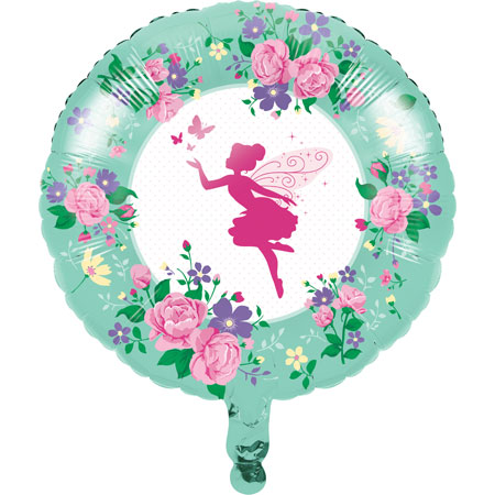 Floral Fairy Sparkle 18in Metallic Balloon