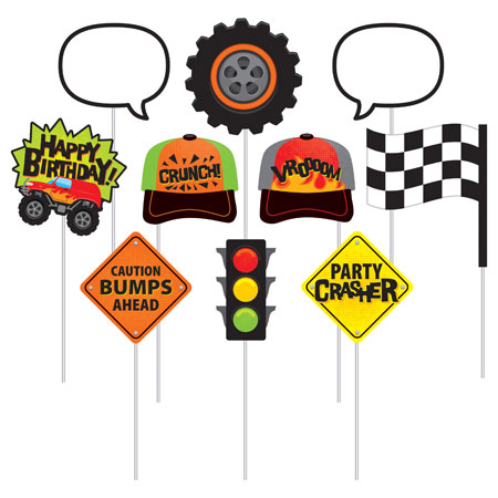 Monster Truck Rally Photo Props 10pk