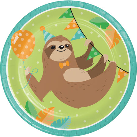 Sloth Party Dinner Plates 8pk