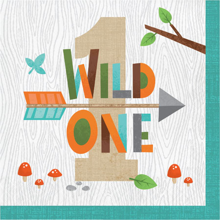 Wild One 1st Lunch Napkins 16pk