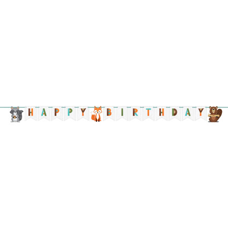 Wild One Woodland Shaped Ribbon Banner