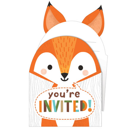 Wild One Woodland Pop-up Invitations 8pk