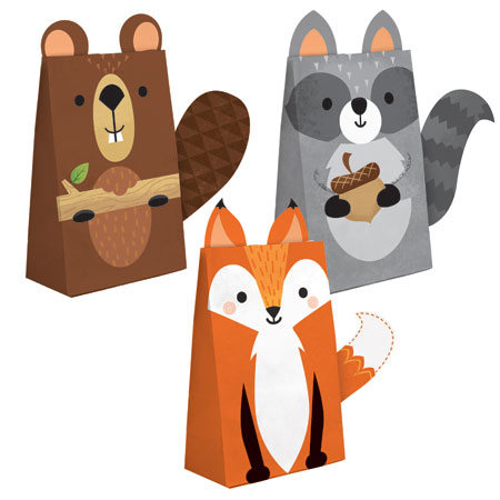 Wild One Paper Treat Bags with Attachments 8pk