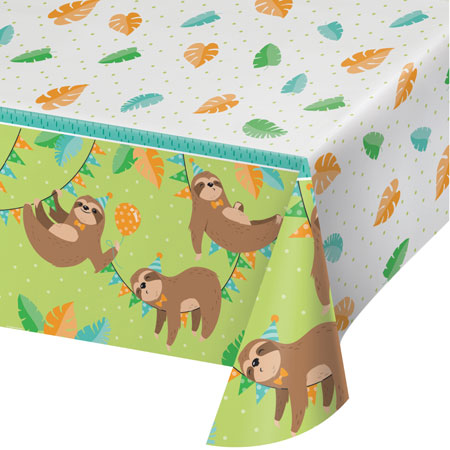 Sloth Party Plastic Tablecover