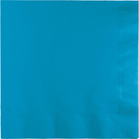 Solid Turquoise Lunch Napkins 50pk