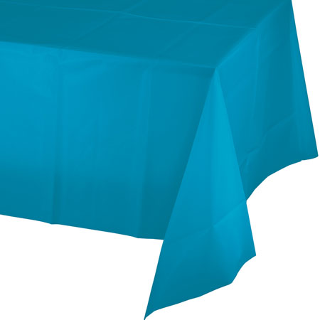 Solid Turquoise Plastic Tablecover