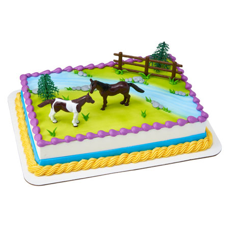 Horses Cake Topper Decoration Kit