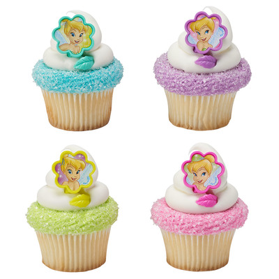 Tinker Bell Fairies Cupcake Rings 12pk