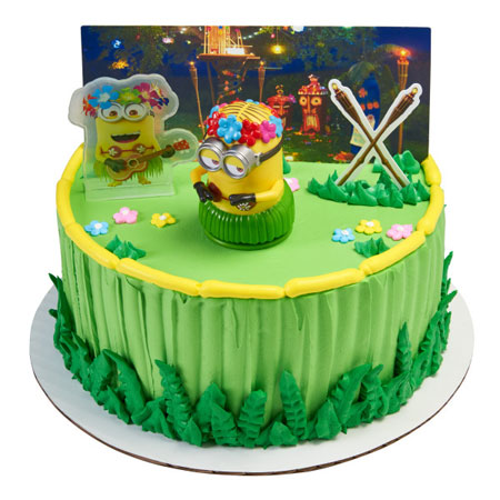 Despicable Me Hula Party Cake Topper Decoration