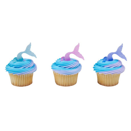 Mermaid Tail Cupcake Rings 12pk