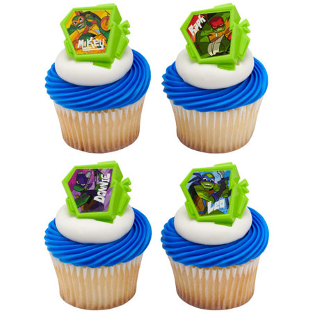 Teenage Mutant Ninja Turtles Cupcake Rings 12pk