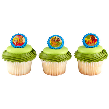 Lion King Cupcake Rings 12pk