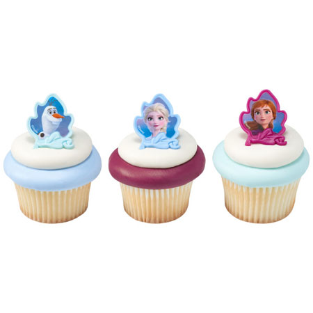 Disney Frozen 2 Cupcake Topper Rings 12pk