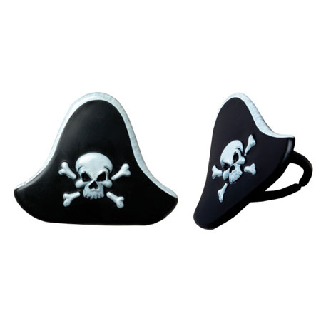 Pirate Hat Cupcake Rings 12pk