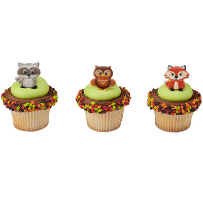 Woodland Animals Cupcake Rings 12pk