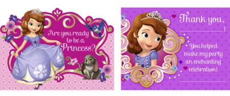 Sofia The First Invitation Thank You Combo Pack