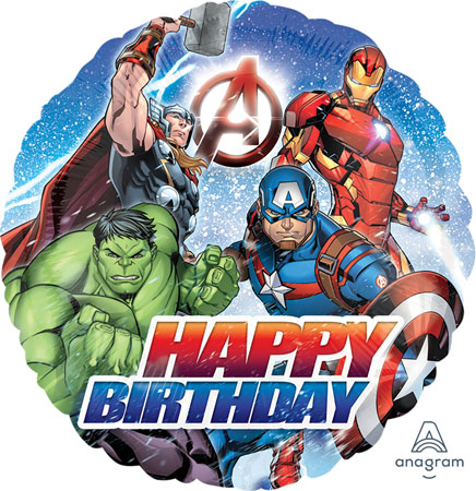 Marvel Avengers Birthday Foil Balloon