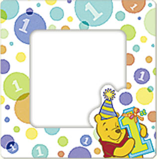 Disney Winnie Pooh 1st Birthday Mini Magnetic Picture Photo Frames 4ct Favors | eBay