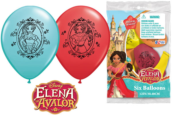 Elena of Avalor Printed Latex Balloons 6pk