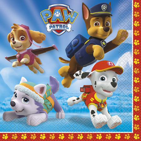 Paw Patrol Lunch Napkins 16pk