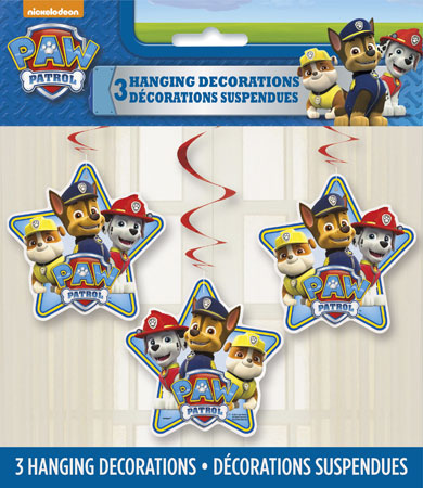 Paw Patrol Hanging Swirl Decorations