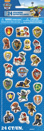 Paw Patrol Puffy Sticker Sheet